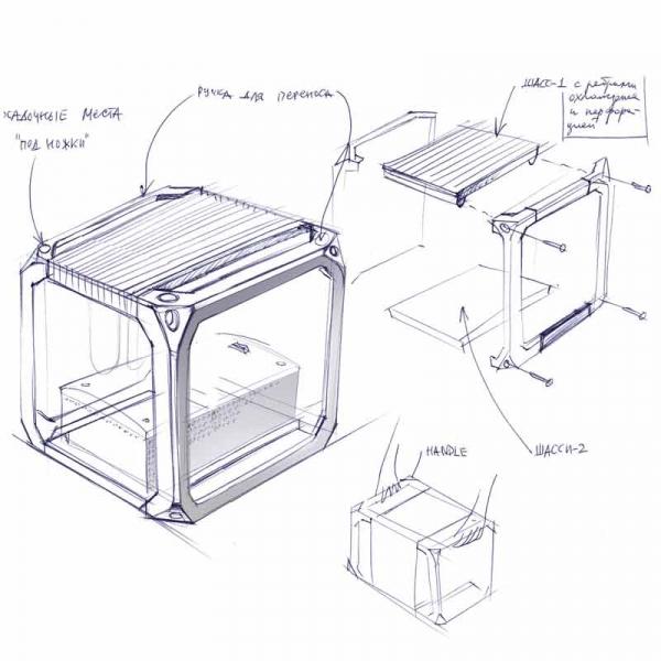 mono power amplifier / sketch v-1
