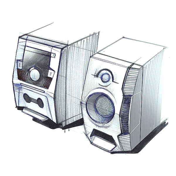 boombox redesign sketch