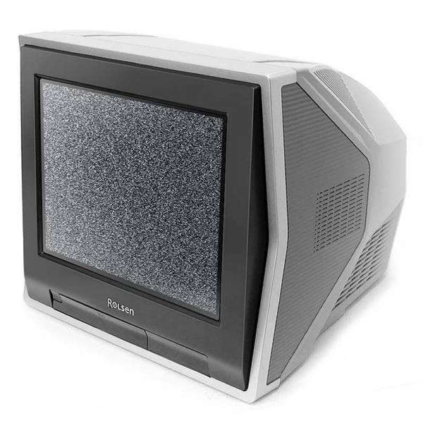 15` CRT TV with clock
